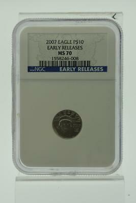 2007 American Eagle 1/10 oz Platinum Coin MS70 early release