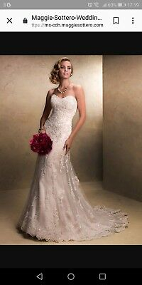 Maggie Sottero Emma wedding dress size 14 Cleaned. Message for more info