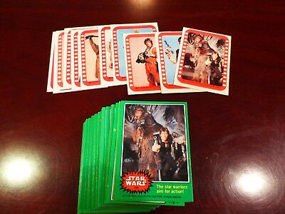 1977 Star Wars Green Set With Stickers  (G-8) Mm-Mt Avg.