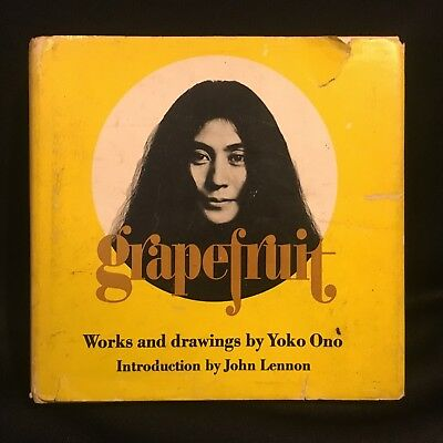 """1970 Book """"Grapefruit: Works and Drawings"""" by Yoko Ono w/ Intro by John Lennon"""