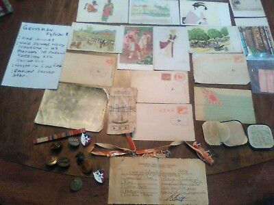 W.W.ll japanese items post cards,picture and some type of flags also U.S. items