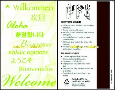 Hilton International Welcome Willkommen Bienvenue Bienvenidos Hotel Key Card
