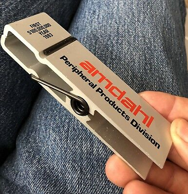 Amdahl Paperclip Promotion Silicon Valley Swag 1983