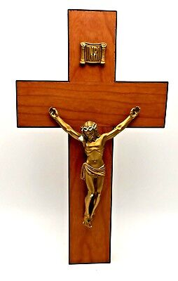 Large Wall Crucifix Cross Jesus Christ for Chapel Home Church Mid Century Modern