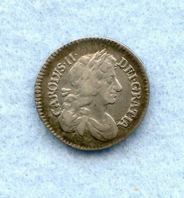 Great Britain ~ 1679 ~ 6 Pence ~ Silver ~ Vf