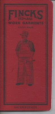 W.M. Finck's Detroit Special workwear promo notebook Red