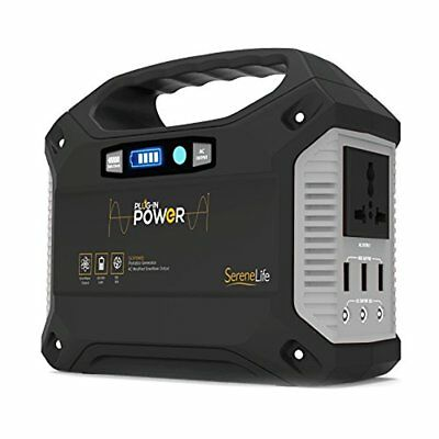 SereneLife SLSPGN20 Rechargeable Battery Portable Power Generator - 155-Watt