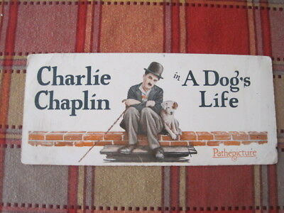 Charlie Chaplin Vintage Advertising Ink Blotter Pathepicture A Dogs Life Movie