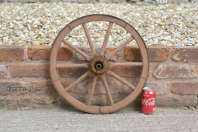 Vintage old wooden cart wagon wheel  / 46 cm - FREE DELIVERY