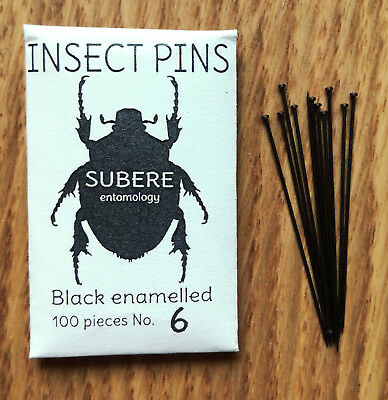 Subere Entomology Insect Mounting Pins 100pcs Size 6