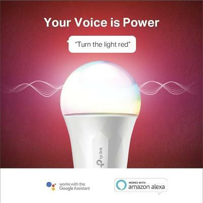 Kasa Smart Wi-Fi LED Light Bulb by TP-Link - Multicolor, Dimmable, A19 LB130 NEW