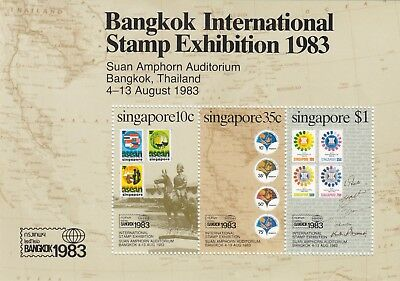 "Singapore, 1983, ""bankok Stamp Exhibition""  S/s, Mint Nh Fresh Good Condition"