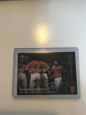 2016 TOPPS NOW MLB #10 BRANDON CRAWFORD Giants Only 316 Printed