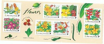 "Singapore, 1997, ""singapore Flowers"" S/s Mint Nh Fresh Good Condition"