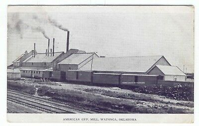 1908 PC Railroad Cars American Gyp Mill Gypsum Watonga Oklahoma Rock Island