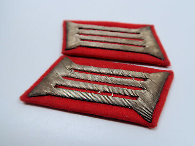 WWII German Heer collar tab patch pair set insignia WW1 US Army Officer estate