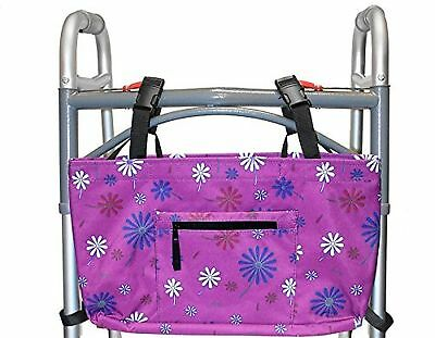 RMS Walker Bag with Soft Cooler Water Resistant Tote, Purple Flower, New