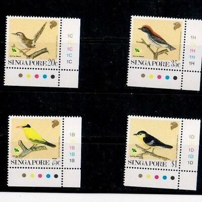 "Singapore, 1991, ""birds Of Singapore"" Stamp Set Mint Nh Fresh Good Condition"