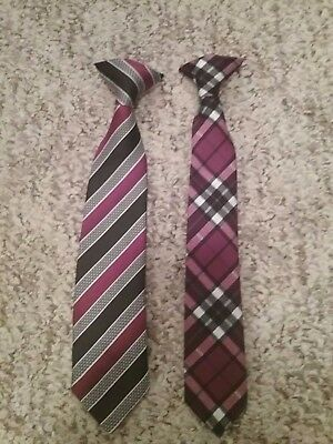 Boys Toddler Clip on Tie lot of 2