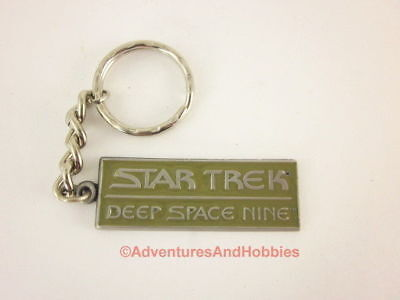 Star Trek DSN Deep Space Nine Keychain Key Ring Metal Pewter 1994 D
