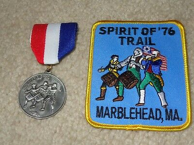 Boy Scout Spirit of 1976 Massachusetts Revolutionary War Trail Medal and Patch