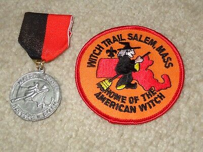 Boy Scout Witch Salem Massachusetts Uniform Award BSA Trail Medal and Patch