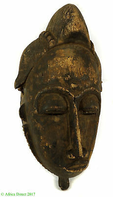 Baule Portrait Mask Mblo Ivory Coast African Art SALE WAS $275