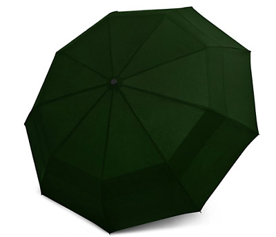 EEZ-Y Compact Travel Umbrella w/Windproof Double Canopy Construction - Auto Open