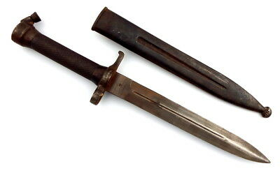 ANTIQUE SWEDISH NAVY NAVAL DAGGER DIRK FIGHTING KNIFE BAYONET IN SCABBARD sword