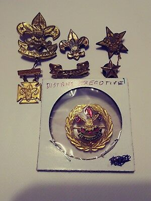 Boy Scouts. District Executive. Be Prepared Pins. Star Screw On