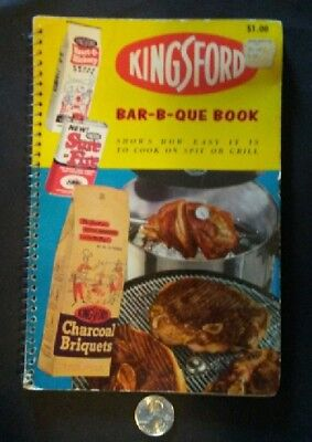 1956 Vintage Kingsford BBQ Cook Book - FREE U.S. SHIPPING!!!