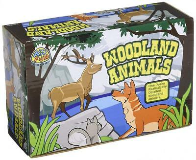 US Toy Woodland Forest Animal Figures Action Figure (1 Dozen)