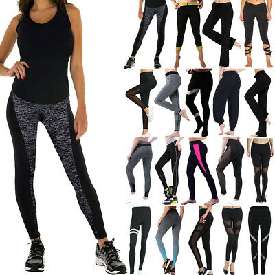 Women Fitness Leggings High Waist YOGA Pants Gym Running Sports Stretch Trousers
