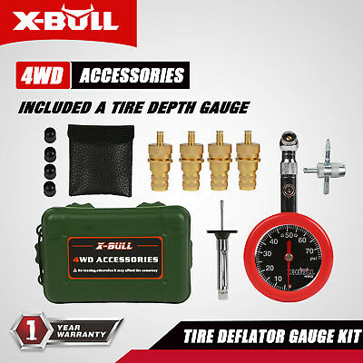 X-BULL Rapid Tyre Tire deflator 4x4 Quick Recovery Gear Gauge In PSI Digital