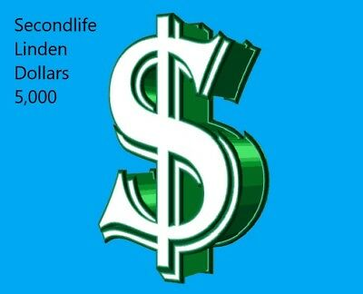 secondlife 31,000 Linden Dollars Second Life $L Virtual Funds Money Currency F/S