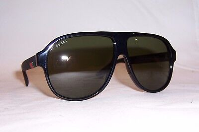 f4a87344e25 NEW GUCCI SUNGLASSES Gg 0009S 001 Black green Authentic 0009 ...