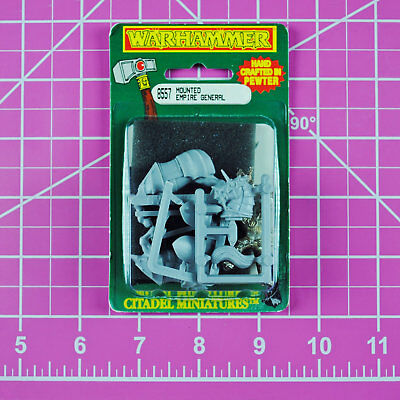 Warhammer Mounted Empire General - Metal Rare OOP Classic Citadel Games Workshop