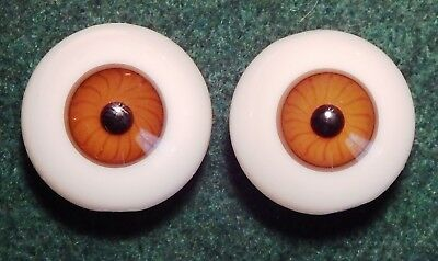 Four German Hand Blown Glass Full Round Figure Eyes