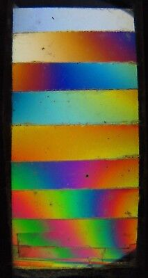 Antique Microscope Slide. Mica in steps of equal thickness. 1884.