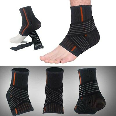 Ankle Support Brace Guard Sports Protector Basketball Soccer Bandage Compression