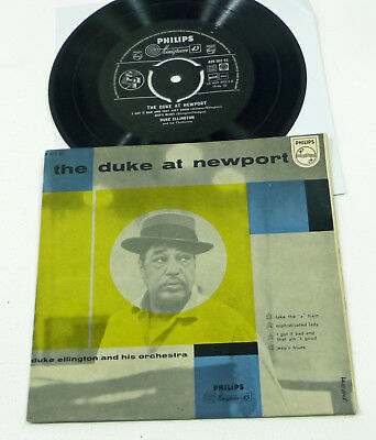 "DUKE ELLINGTON ""The Duke At Newport"" M-/EX 7"" PS 45 Hoallnd PHILIPS Jazz Vinyl"