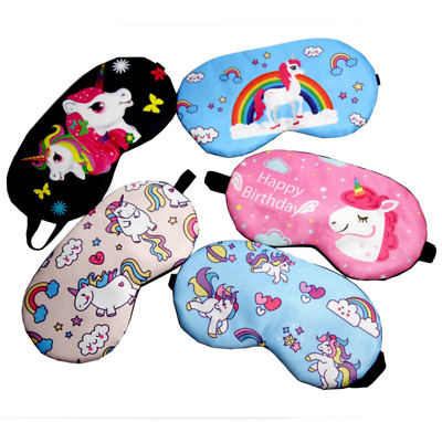 Cute Sleep Unicorn Mask Eye Shade Cover for Girl Kid Teen Blindfold Shield