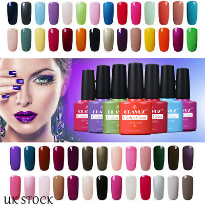 CLAVUZ Gel Nail Polish Soak Off UV LED Color Top Base Coat Long Lasting Manicure