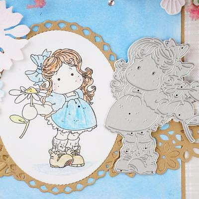 Girl and flowers Cutting Dies Stencil DIY Scrapbook Album Embossing Template