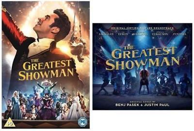 The Greatest Showman DVD / CD COMBO DEAL. BOTH NEW AND SEALED. FREE POST.