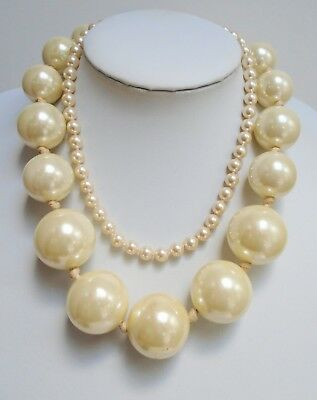 Very large vintage hand knotted pearl necklace + 1