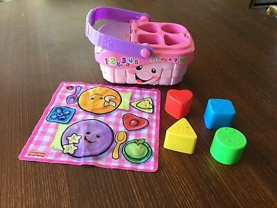 Fisher Price Laugh & Learn  Sounds Picnic Basket Shape Sorter