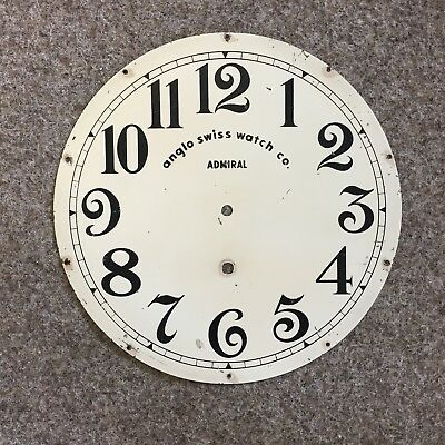 "12"" Metal Anglo Swiss Watch Company Clock Face with numbers"