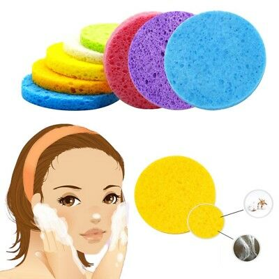 2PCS Useful Facial Soft Puff Face Cleansing Washing Sponge Pad Makeup Remover