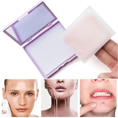 80 Sheets Oil absorbing sheets Blotting paper Design Oil control With puff New